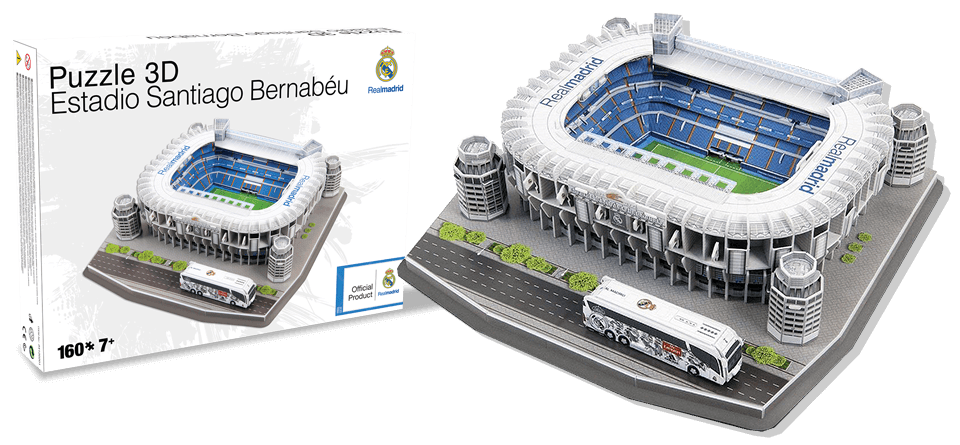 Puzzle 3D Santiago Bernabeu Real Madrid stadion